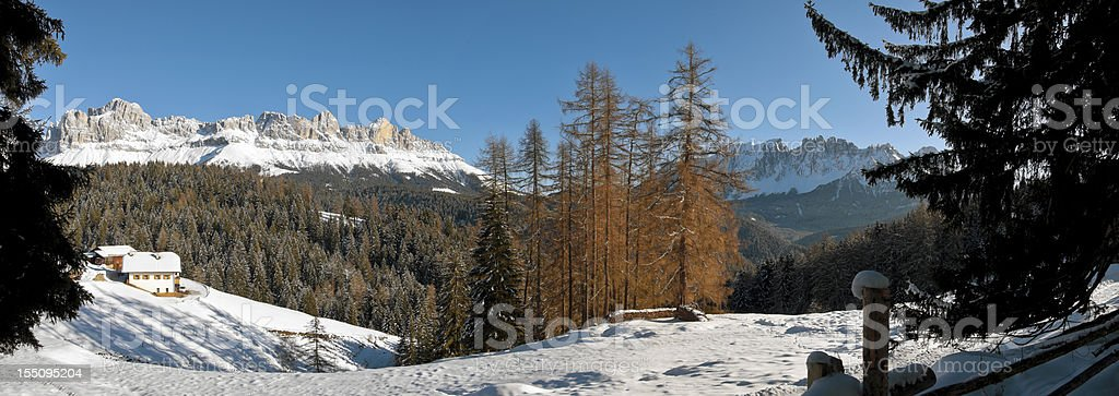 Panoramic views of the Dolomites stock photo