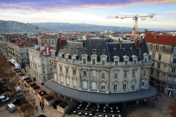 Panoramic views of Valence, France stock photo