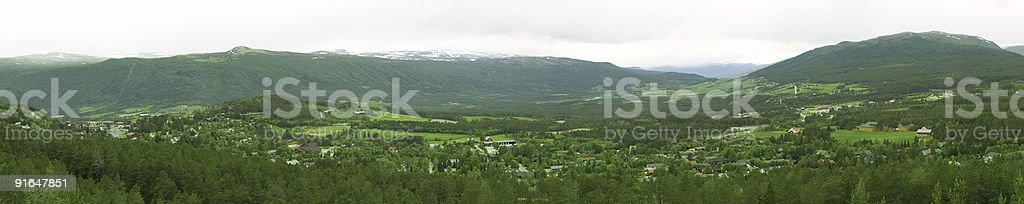 Panoramic village stock photo