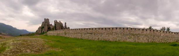 Panoramic vista at natural fortress at Belogradchik stock photo