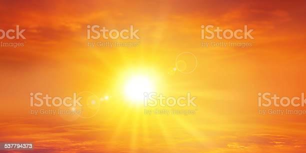 Photo of Panoramic warm sunset