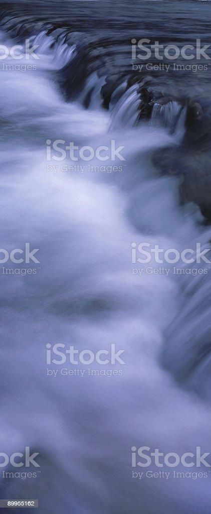 Panoramic Waterfall Elbow Falls royalty-free stock photo