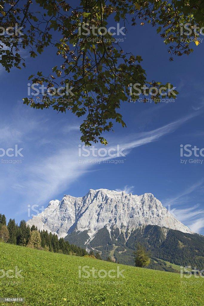 panoramic way near lermoos royalty-free stock photo