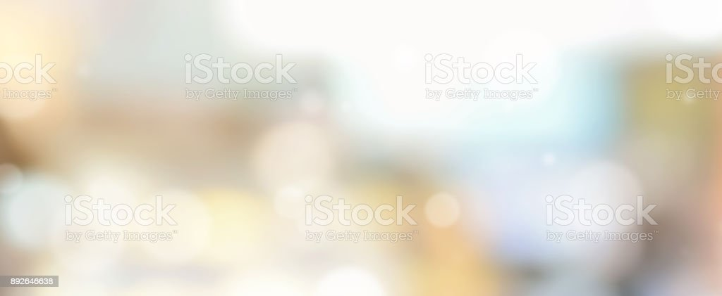 Panoramic web banner blurred abstract background stock photo