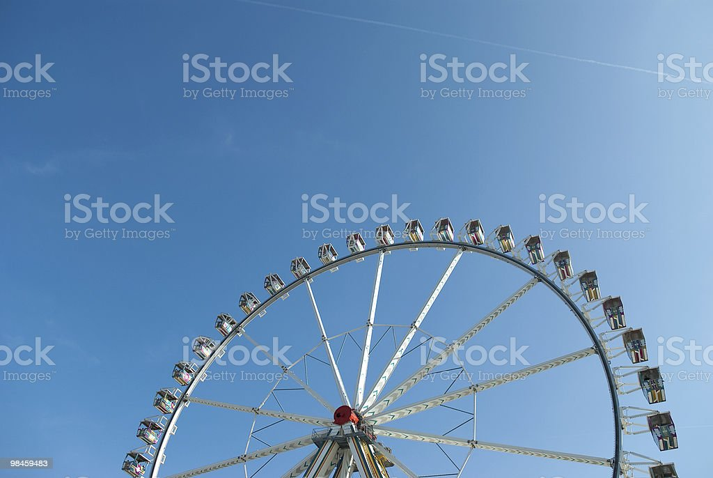 Panoramic Wheel Against A Blue Sky royalty-free stock photo
