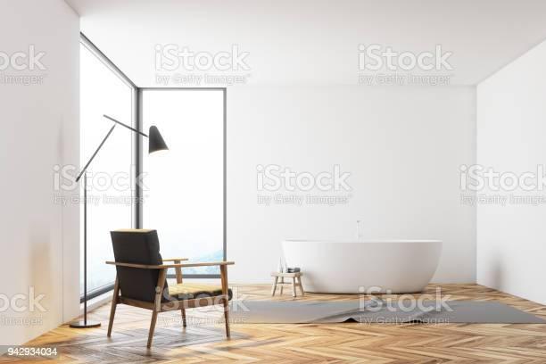 Panorama Weisse Badezimmer Einem Sessel Stockfoto Und Mehr Bilder Von Architektur Istock