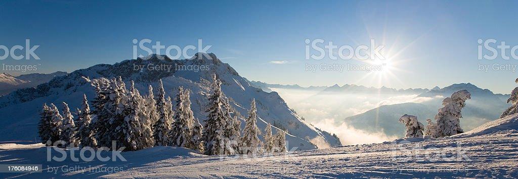 panoramic winter view royalty-free stock photo