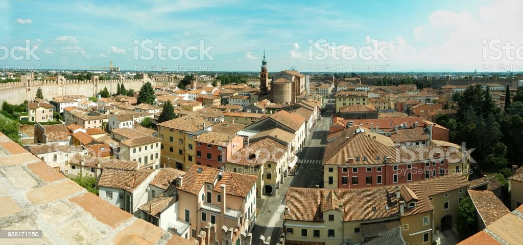 Panoramica di Cittadella PD - foto stock
