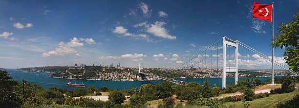 Panoramic,Bosphorus Bridge, Istanbul stock photo
