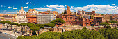 istock Panoramma of ancient Trajan Forum, Rome, Italy 825873602