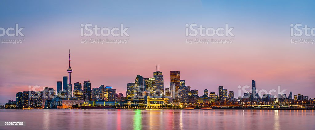 Panorana of Toronto, Canada stock photo
