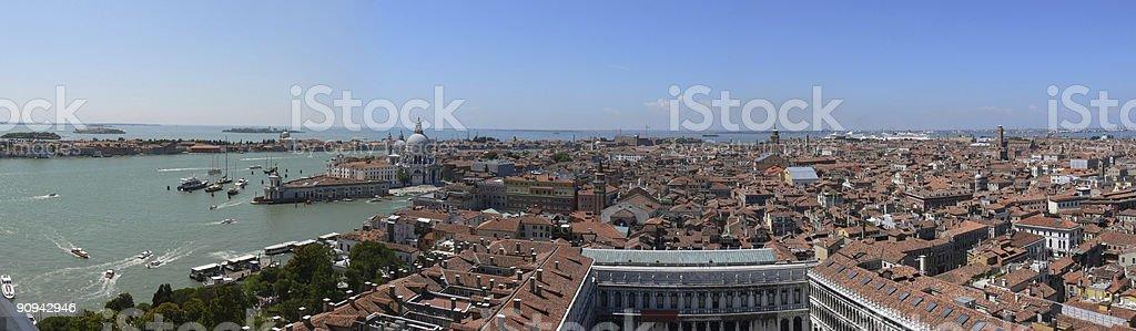 Panorámica de Venecia royalty-free stock photo