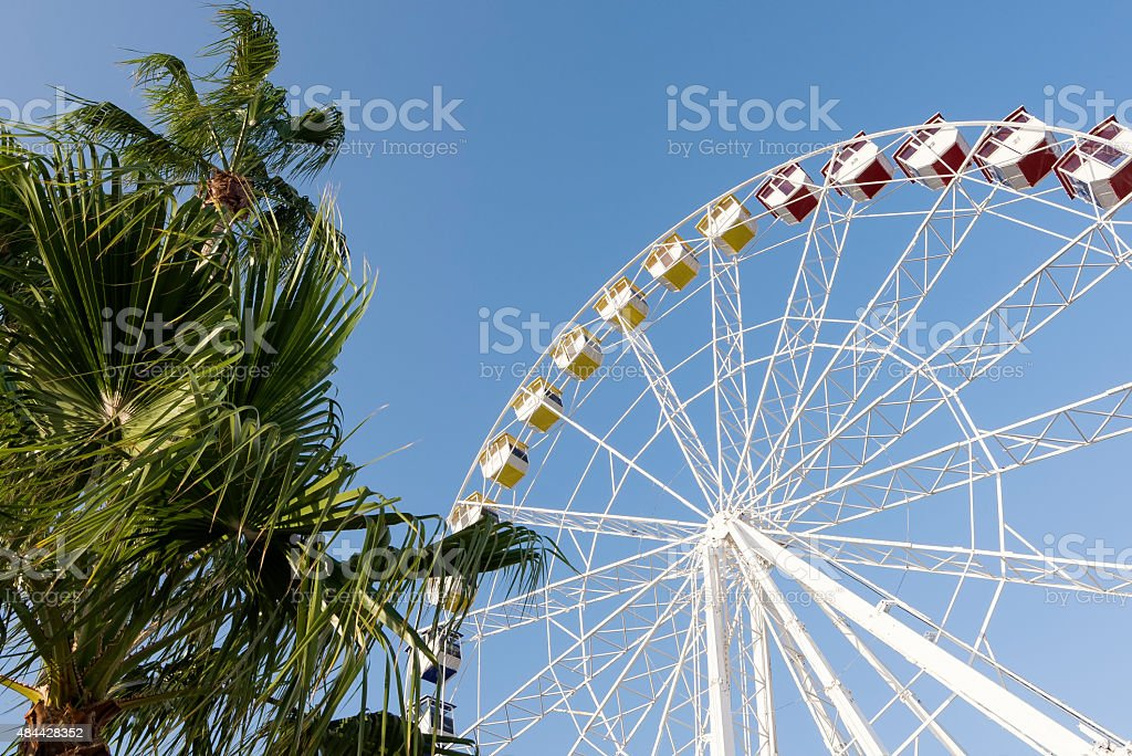 Ruota panormanica alla Croisette, Cannes, Francia stock photo