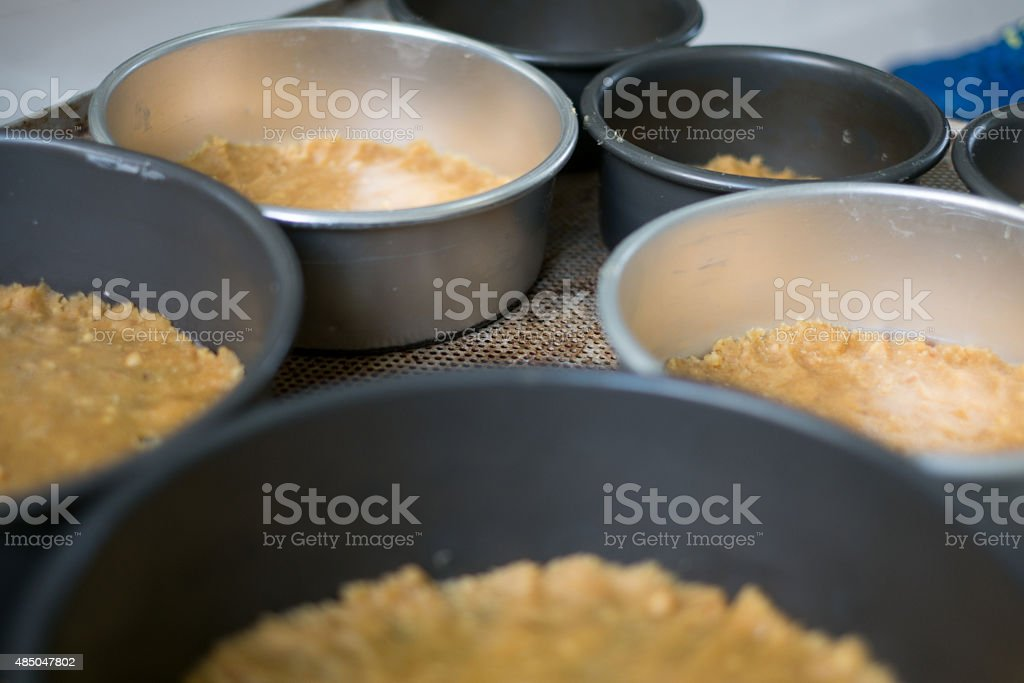 Pans With Graham Cracker Crusts stock photo