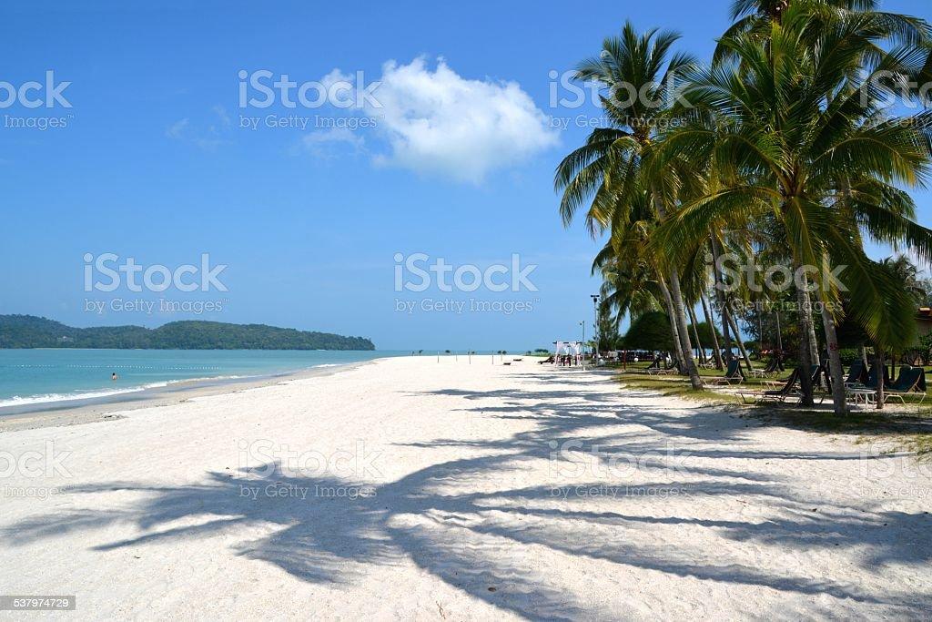 Pantai Cenang beach, Langkawi Malaysia stock photo