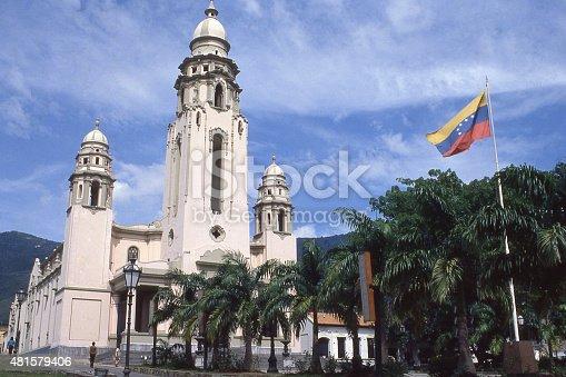 Panteón Nacional or National Cemetery and historical monuments near Caracas Venezuela including burial place of Simon Bolivar