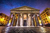 Panteon pantheon rome roma italia night dusk milky way