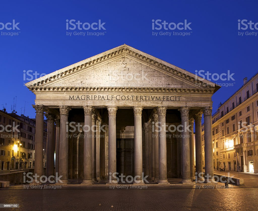 Pantheon at Dawn in Rome royalty-free stock photo