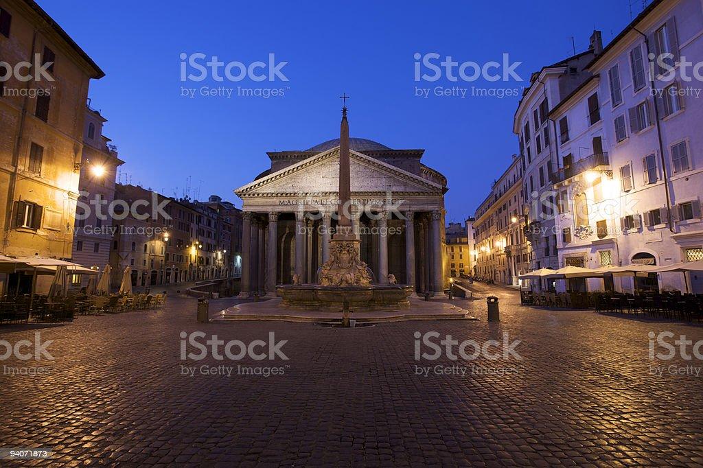 Pantheon at dawn stock photo