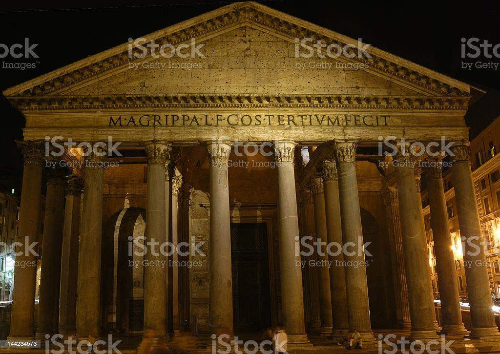 Pantheon at Night royalty-free stock photo