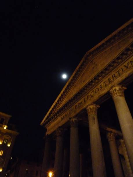 pantheon at night pantheon,rome,night,italy lazio stock pictures, royalty-free photos & images