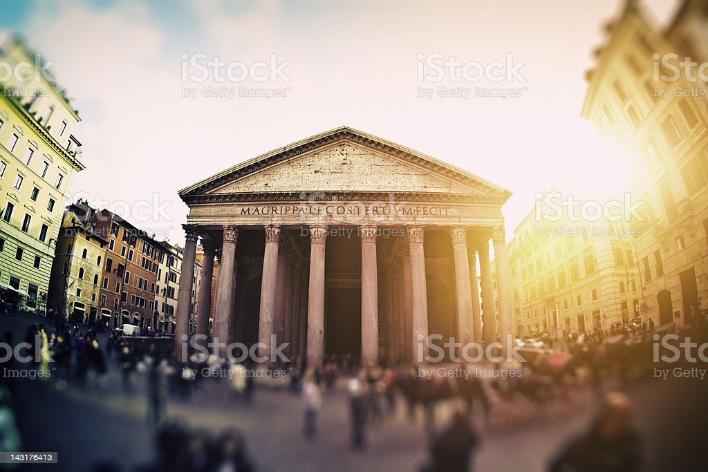 Pantheon at sunset. Rome, Italy royalty-free stock photo