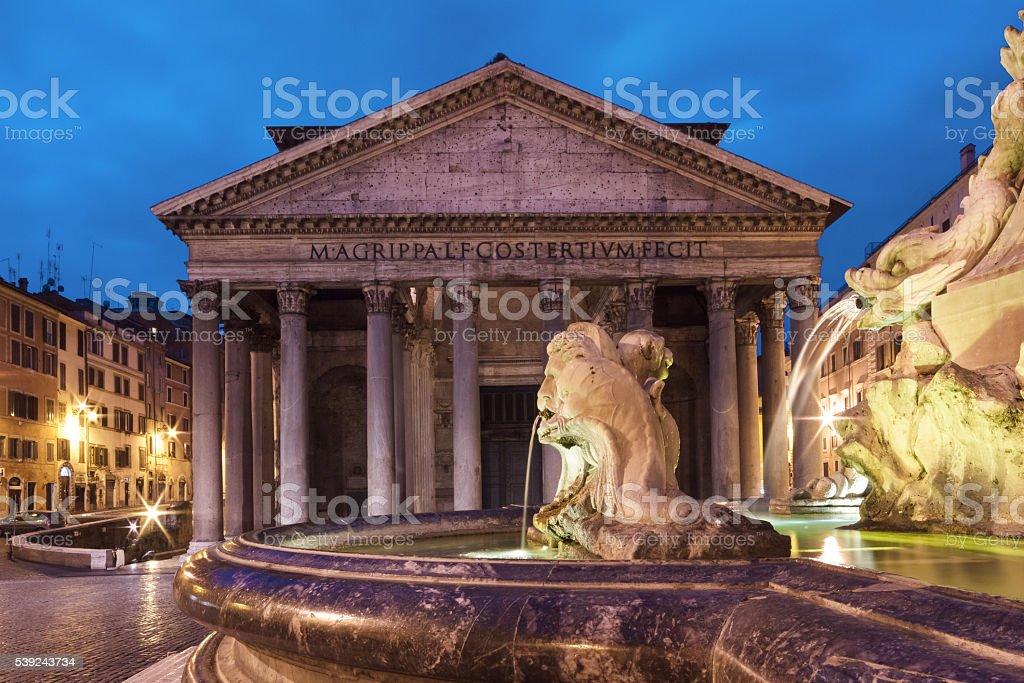 Pantheon at twilight royalty-free stock photo