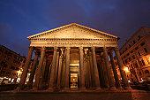 istock Pantheon by night 157190642