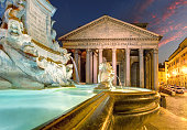 istock Pantheon by night, Rome Italy 485452291