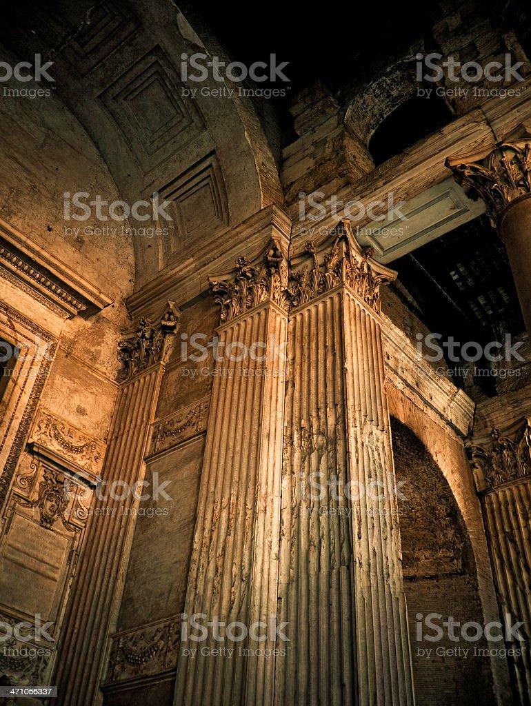pantheon columns royalty-free stock photo