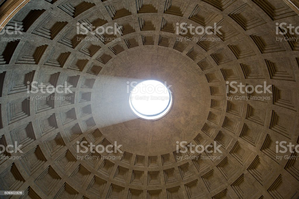 Pantheon Dome with Sunlight stock photo