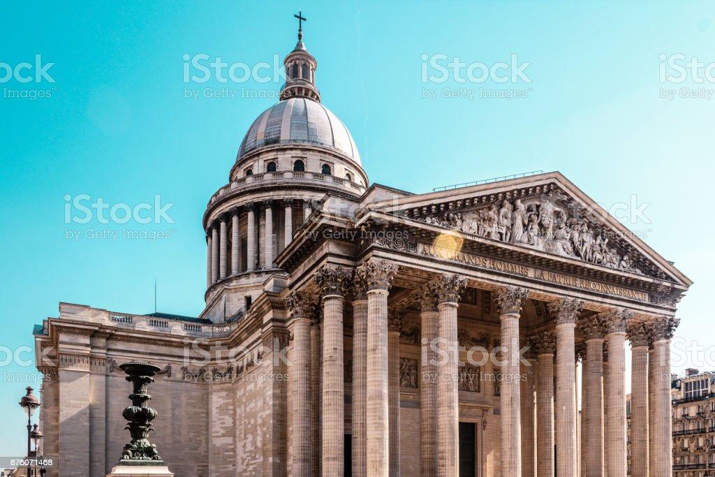 Pantheon in Paris, France stock photo