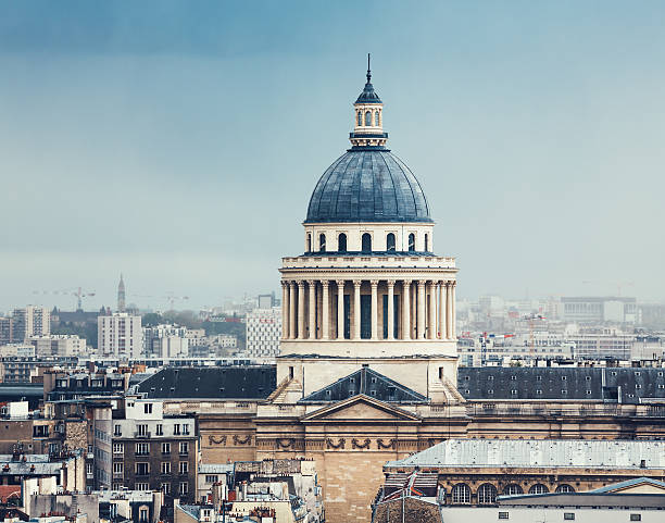 Pantheon In Paris Paris cityscape with Pantheon (France). cupola stock pictures, royalty-free photos & images