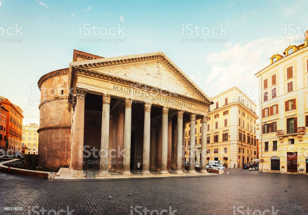 Pantheon in Rome, Italy stock photo