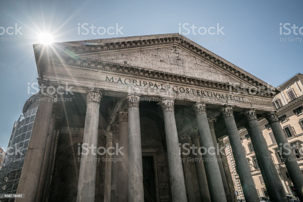 Pantheon in Rome , Italy stock photo
