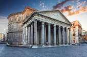 istock Pantheon in the morning. Rome. Italy. 453127565