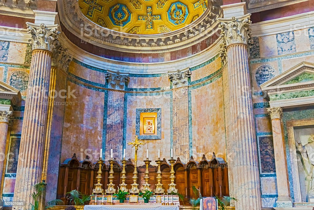 Pantheon interior, Rome, Italy stock photo