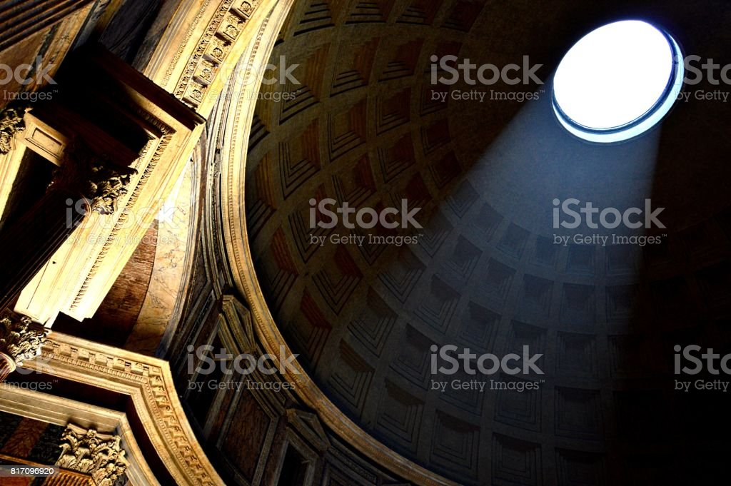 Pantheon of Rome, Italy stock photo