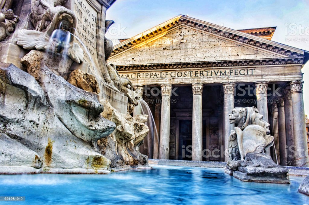 Pantheon, Rome Italy stock photo