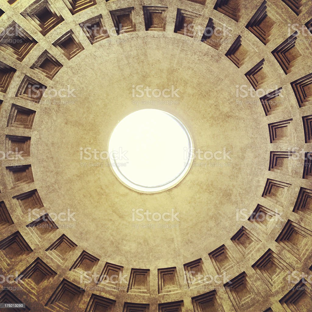 Pantheon Temple Impluvium stock photo