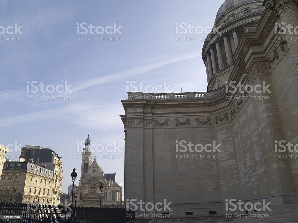 Panthéon and church royalty-free stock photo