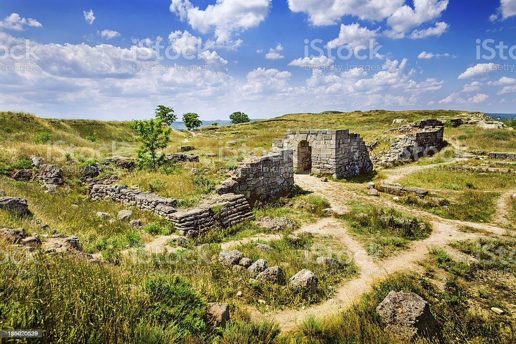 Panticapaeum ancient ruins of Kerch royalty-free stock photo