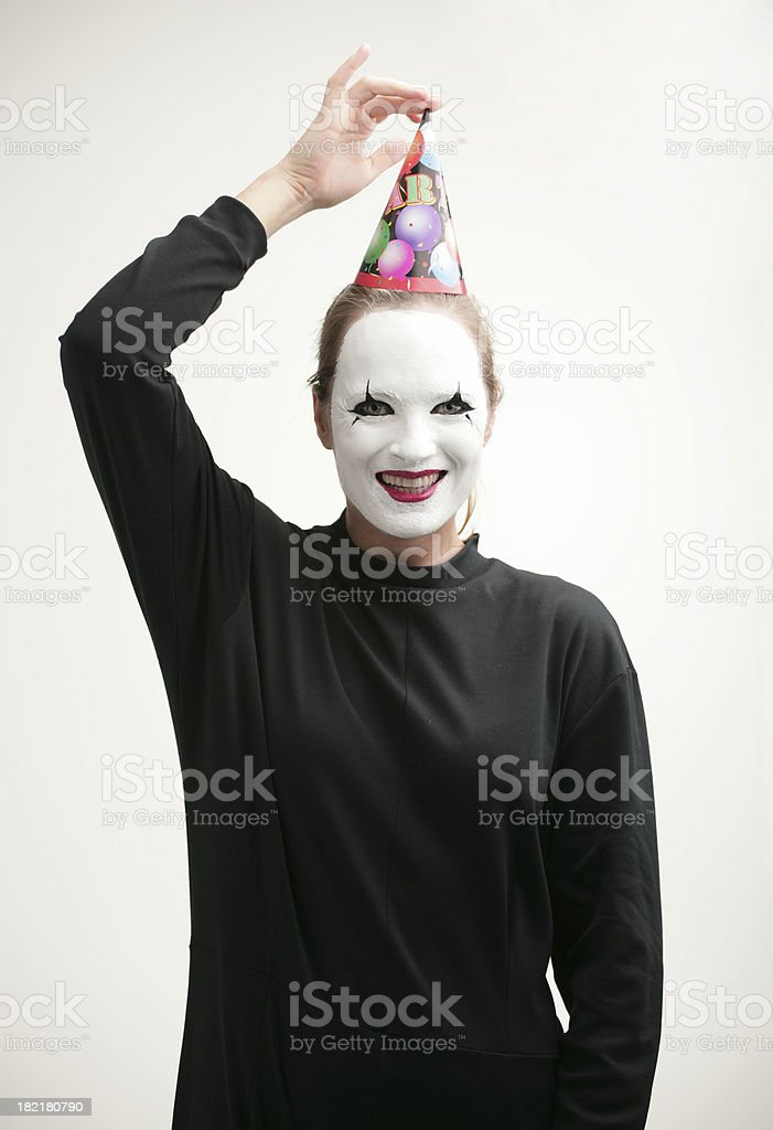 Pantomime party royalty-free stock photo