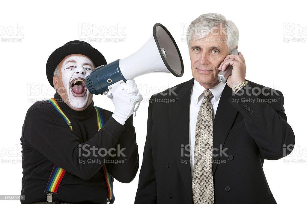 Pantomime yelling royalty-free stock photo