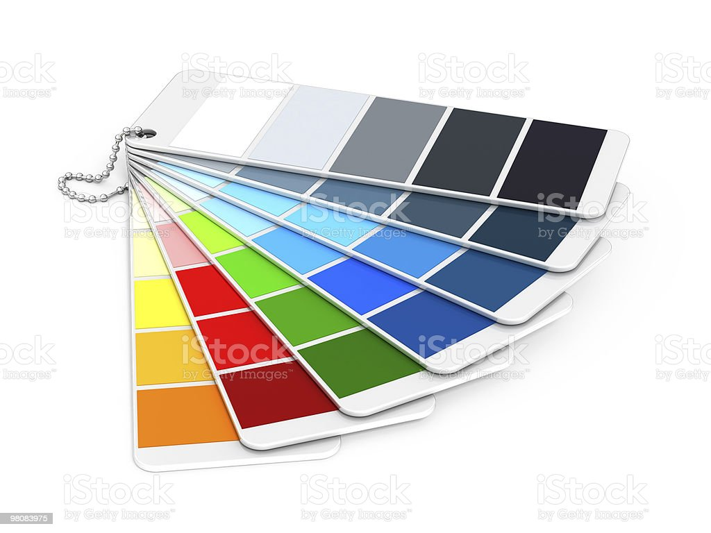 Pantone color guide royalty-free stock photo