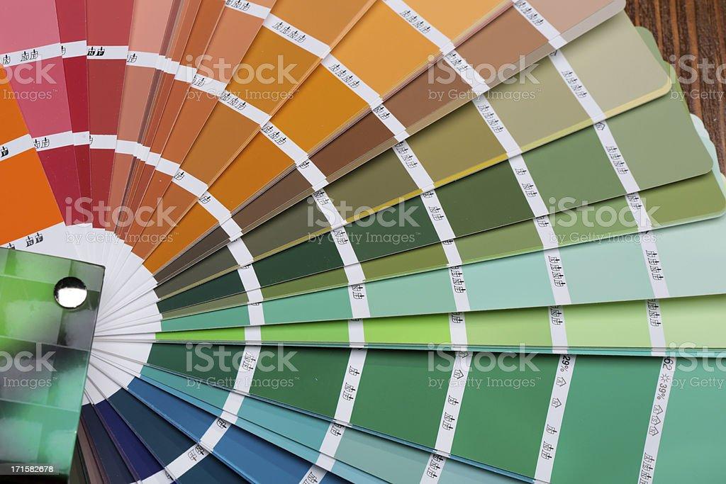 Pantone color palette guide stock photo