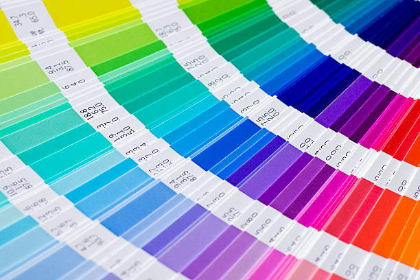 Pantone open Pantone sample colors catalogue printing plant stock pictures, royalty-free photos & images