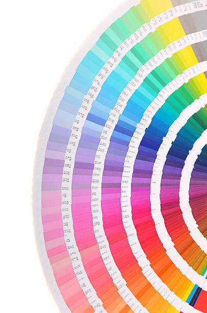 Pantone swatch book - color card stock photo