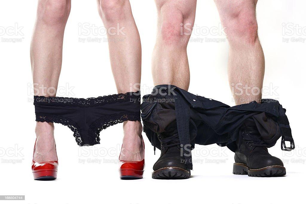 pants down stock photo