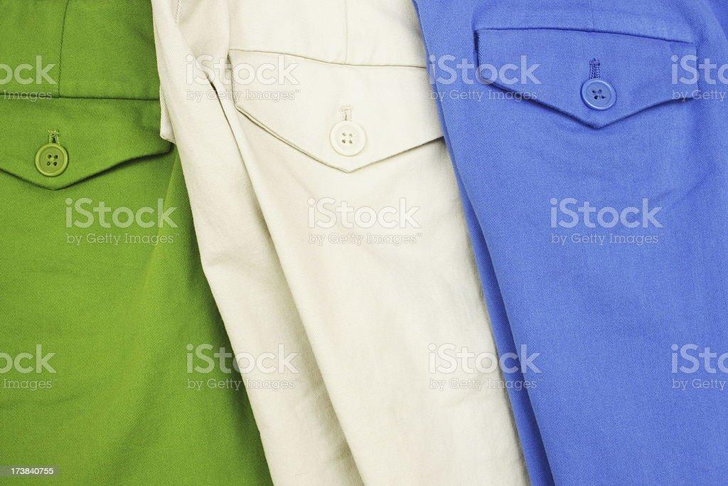 Pants Fashion Clothing Button Pockets royalty-free stock photo